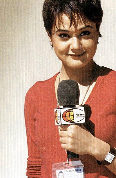 Preity Zinta Cute Look In Short Hair