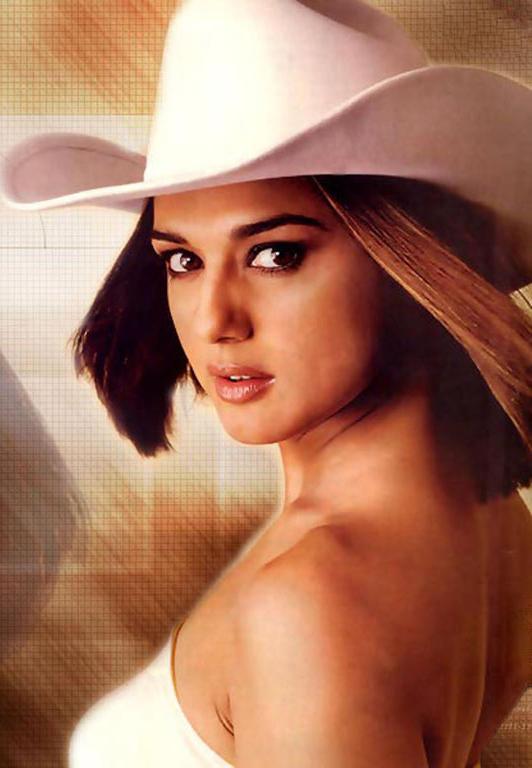 Preity Zinta Hot Look In White White Hat