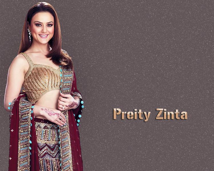 Preity Zinta Sweet Gorgeous Wallpaper