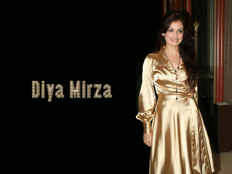 Diya Mirza Shining Wallpaper