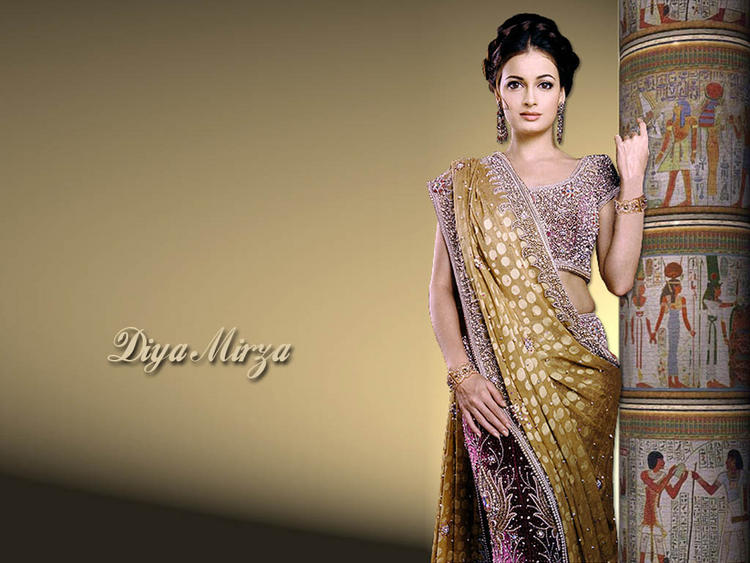 Diya Mirza Wallpaper In saree