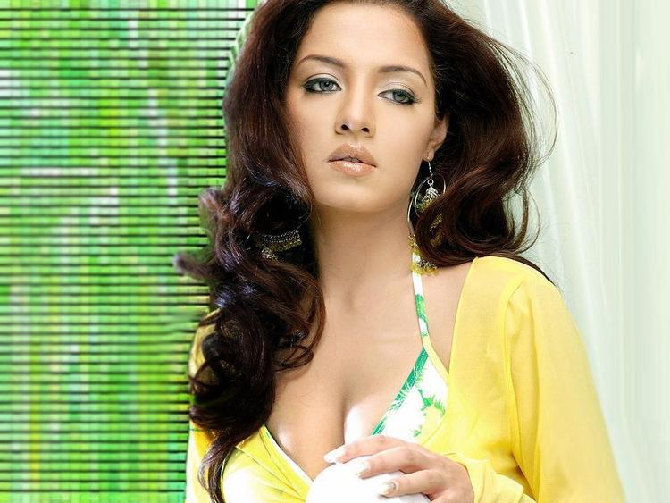 Celina Jaitley Sizzling FAce Look Wallpaper