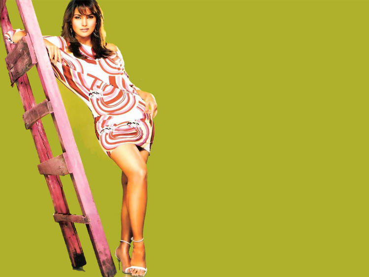 Lara Dutta Glossy Legs Pose Photo Shoot