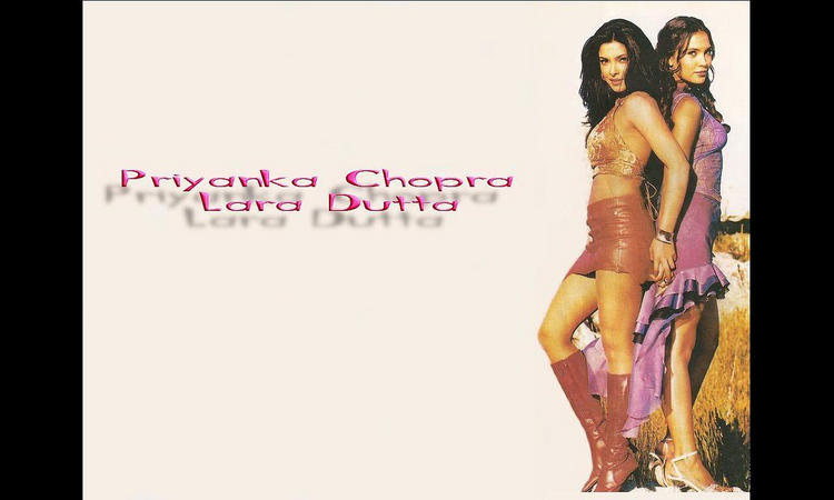 Priyanka Chopra and Lara Dutta Glamour Wallpaper