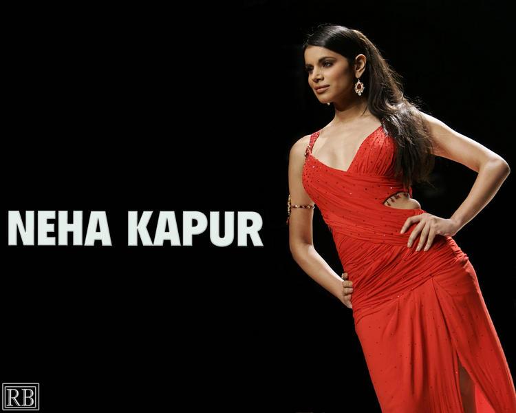 Neha Kapur Red Dress Hot Wallpaper
