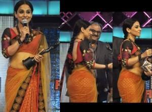 Vidya Balan With Filmfare Award