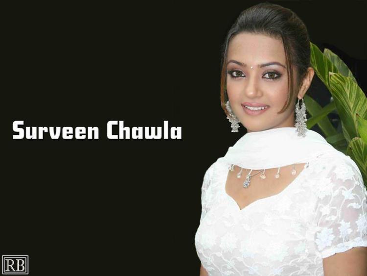Surveen Chawla Charming Look Wallpaper