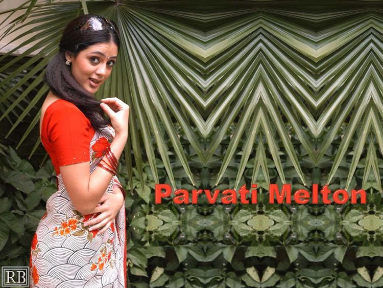 Parvathi Melton In Saree Hot Wallpaper