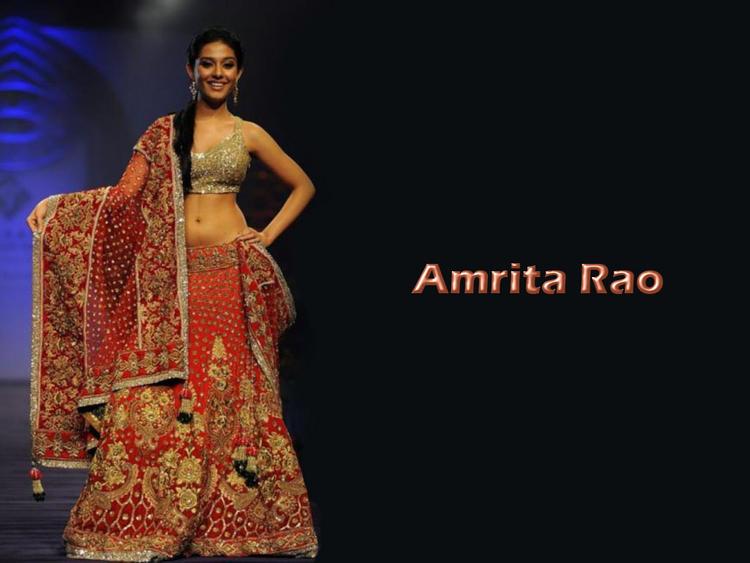 Amrita Rao Beautiful Dress Awesome Wallpaper