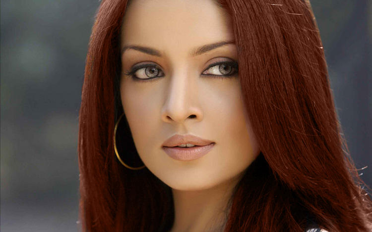 Celina Jaitley Red Hair Nice Pic