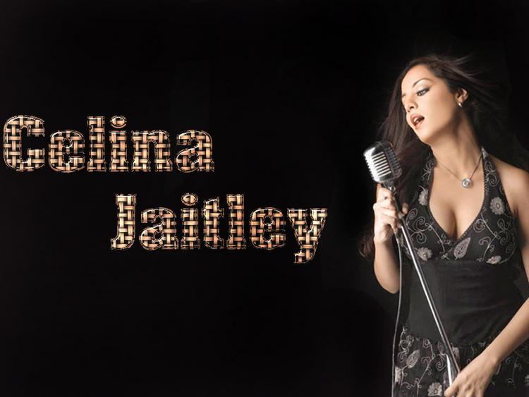 Celina Jaitley Singing Pose Hot Wallpaper