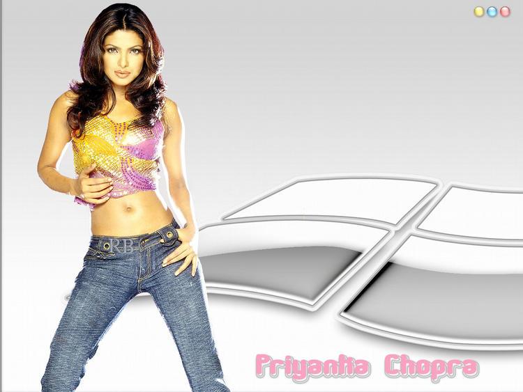 Priyanka Chopra Hot Navel Expose In Short Tops and Jeans