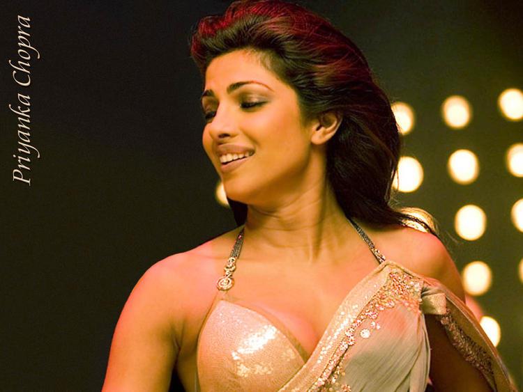 Priyanka Chopra Sexy Blouse Exposing Wallpaper