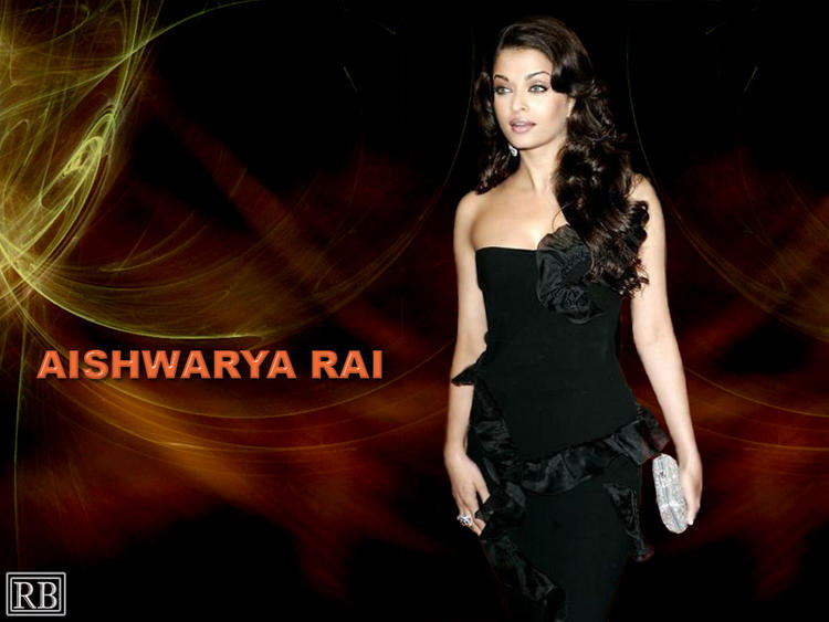 Aishwarya Rai Black Dress Gorgeous Wallpaper