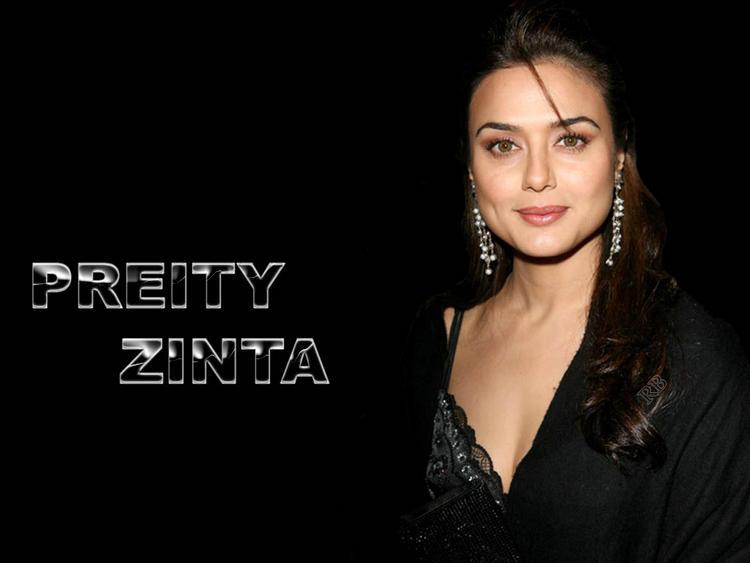 Bubbly Beauty Preity Zinta Wallpaper
