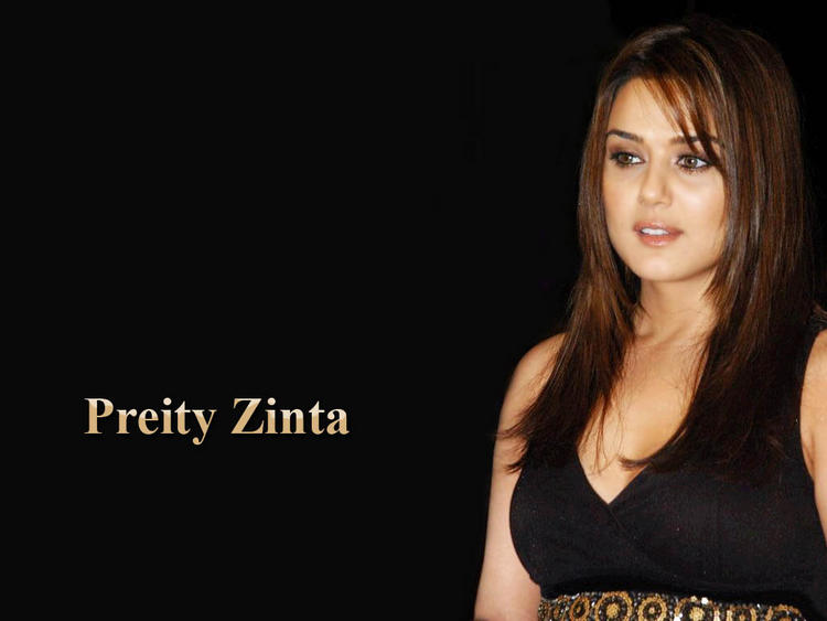 Gorgeous Beauty Preity Zinta Wallpaper
