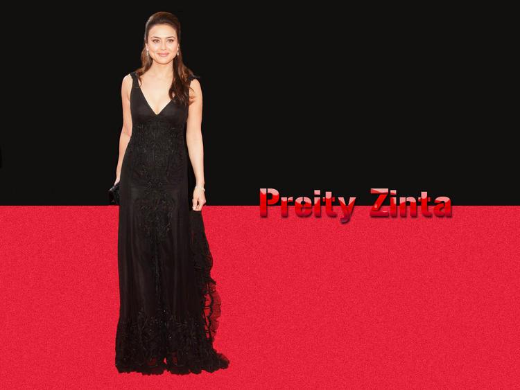 Preity Zinta Beautiful Wallpaper In Amazing Gown