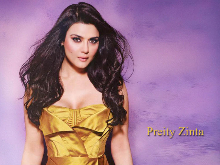 Preity Zinta Open Boob Show Sexiest Wallpaper