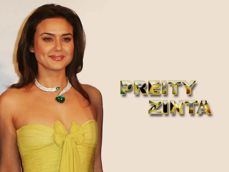 Preity Zinta Strapless Dress Gorgeous Wallpaper