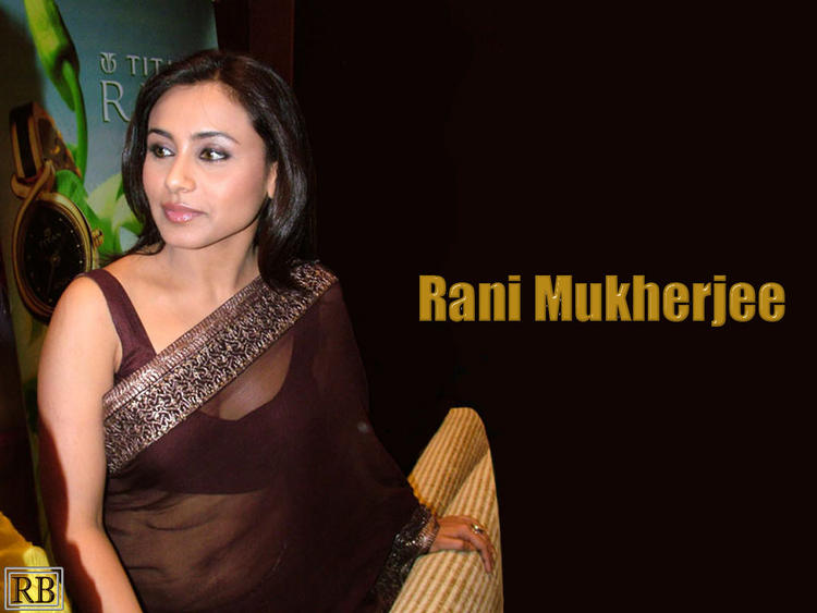 Rani Mukherjee Wallpaper In Transparent Saree