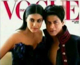 Kajol Devgan and SRK Vogue Magazine Still