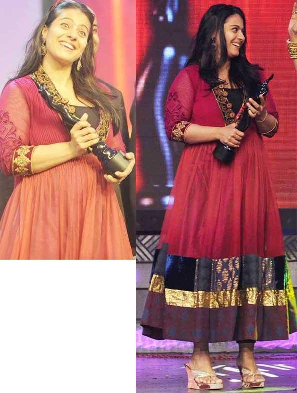 Kajol Devgan With Best Actor Female Awards