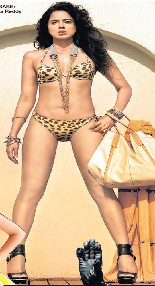 Sameera Reddy Bold In Bikini Wallpaper
