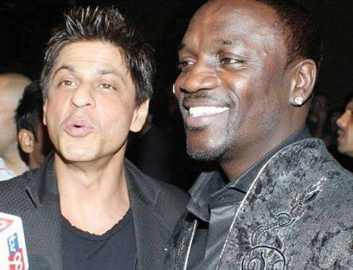 Shahrukh Khan And Akon In Ra One Music Lunch