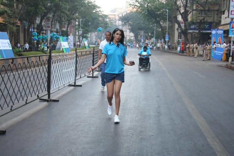Genelia D'souza Mini Dress Still On Road