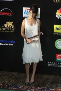 Genelia D'souza White Dress Still at IIFA