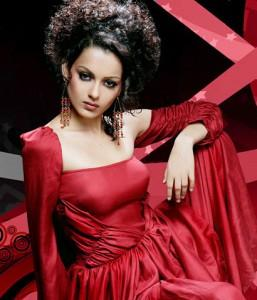 Kangana Ranaut Red Dress Sexy Wallpaper