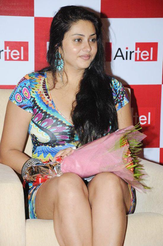 Namitha Sexy Still With Bouquet