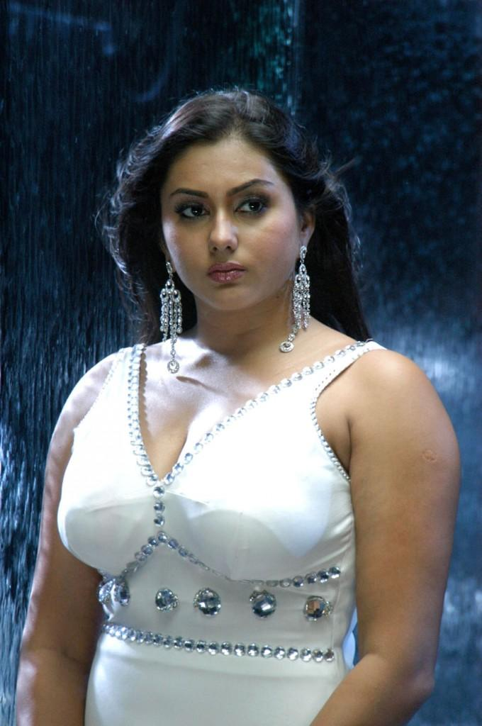 Namitha White Dress Sexy Still