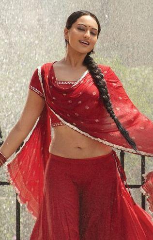 Sonakshi Hot in Red Dress Romancing Still