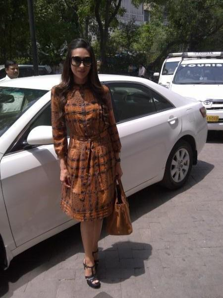 Karishma Kapoor Promoting Dangerous Ishhq in Delhi