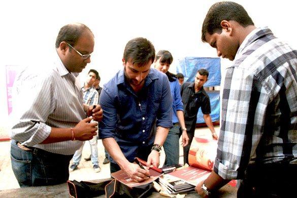 Cocoberry Winners Meet Saif Ali Khan in Mumbai
