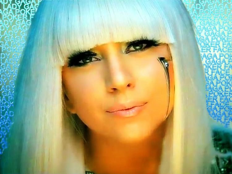Lady Gaga White Hair Cute Look Still
