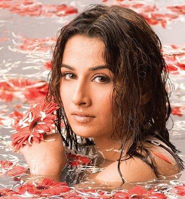 Vidya Balan Wet Sexy Bathing Pics