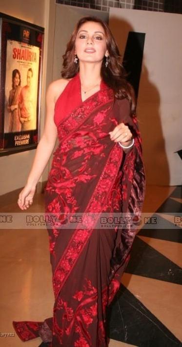 Nandana Sen Red Saree Hot Pics