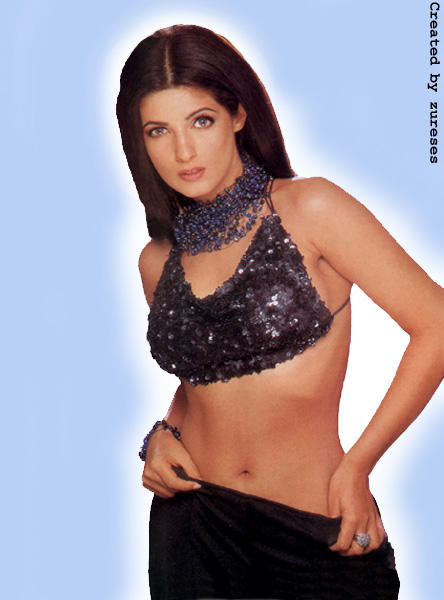 Twinkle Khanna Sexy Navel Show Wallpaper