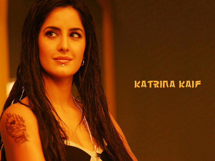 Katrina Kaif Gorgeous Look Tattoo Wallpaper