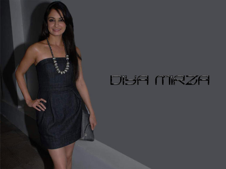 Diya Mirza Strapless Dress Glamour Pic