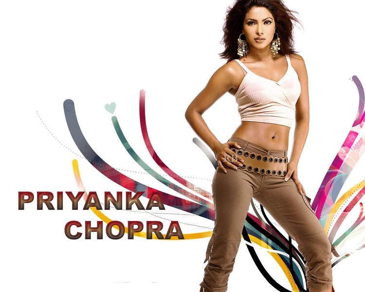 Priyanka Chopra Spicy Navel Show Wallpaper