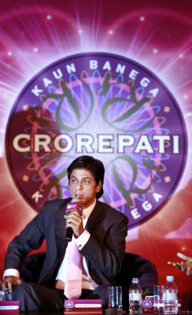 Shahrukh Khan in KBC Reality Show