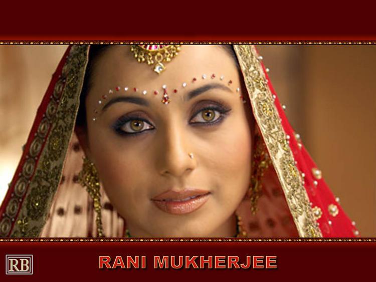 Rani Mukherjee Beautiful Bridal Look Wallpaper