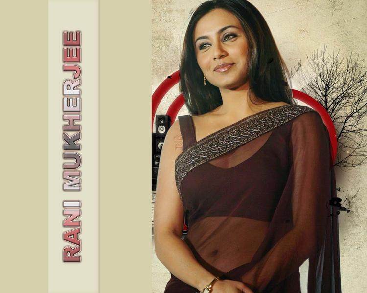 Rani Mukherjee Sweet Wallpaper In Transparent Saree