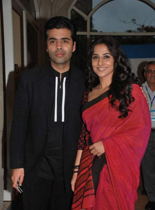 Vidya Balan and Karan Poses To Photo Shoot