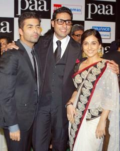 Vidya Balan Poses With Karan and Abhi