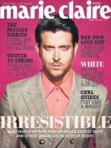 Hrithik Roshan Marie Claire Magazine Still