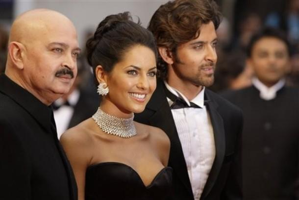 Hrithik Roshan,Barbara and Rakesh Roshan Latest Pic at Cannes